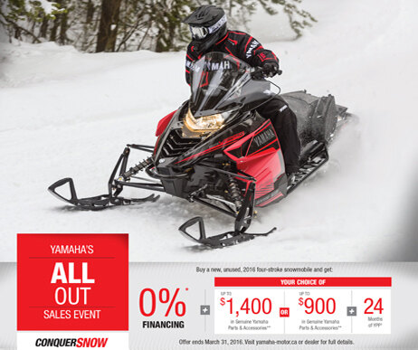 Yamaha's Snow Squall Sales Event